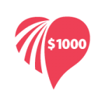 $1000 – Helps a Bone Marrow Transplant family or a family undergoing an experimental trial